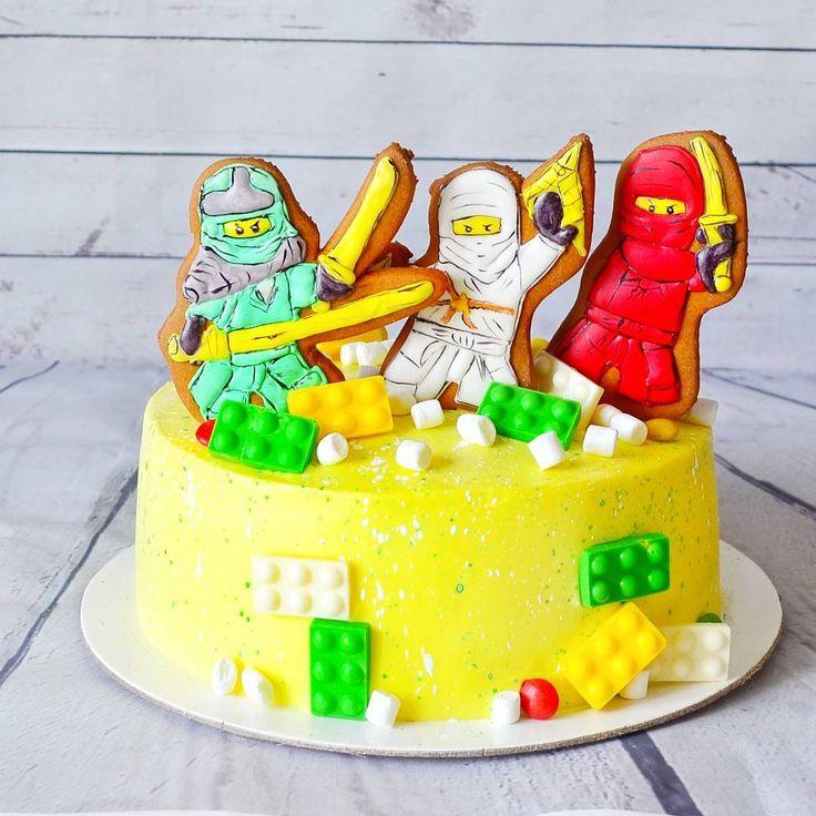 56 отметок «Нравится», 4 комментариев — ВКУСНЫЕ ТОРТЫ ВЛАДИКАВКАЗ (@happy_cake_vladikavkaz) в Instagram: «Давно не было детский тортиковисправляюсь торт с героями лего ниндзяго»
