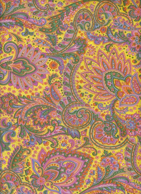 Hoffman Yellow paisley, fabric | Flickr - Photo Sharing!