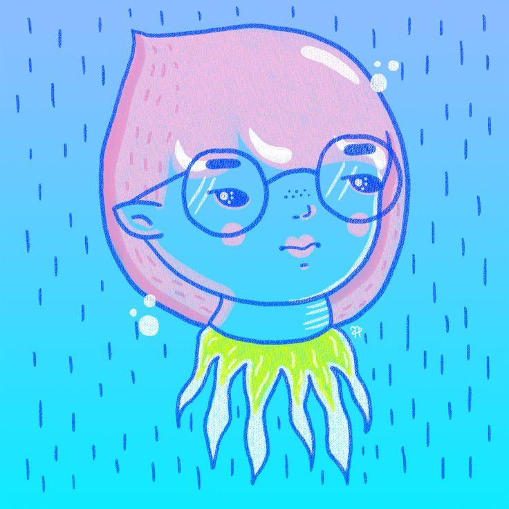 ✧ N A U T A ✧ #nauta #nauta1992 #adobe #photoshop #wacom #illustration #ilustración #dibujo #fluor #pastel #color #cosmos #space #galaxy #universe #harajuku #girl #glasses