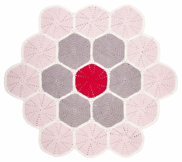 Large crochet floor mat - multi pink  , $130.00 by La De Dah Kids