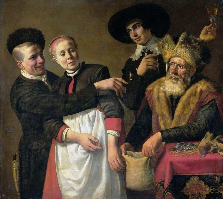 Nicolaes Moeyaert - Moor-Aal and his Worshippers [c.1630-40]  #17th #Classic #Nicolaes #Moeyaert #Painting