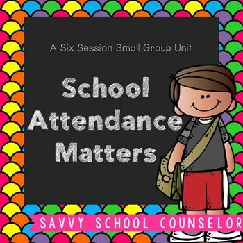 Helping students understand that good school attendance matters is important for their success throughout school and later in their careers.  This product contains activities to be used in a six session small group.Be sure to check out the preview to see everything included!With your purchase, you will receive a permission form, brainstorming chart, discussion cards, a paper folding activity, a fortune teller, a board game, a Roll and Respond board, worksheets, sticker charts and an exit…