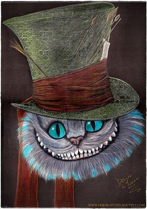 Cheshire Cat  Gato de Cheshire by deboratsuki.deviantart.com on @deviantART