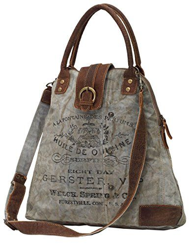 Myra Bags Gerster Upcycled Canvas Shoulder Bag M-0765  cb5fcbfe5332d