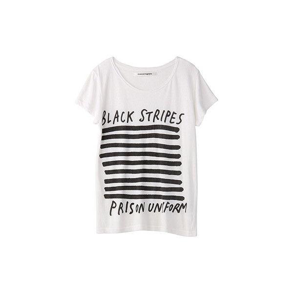 【ELLE SHOP】トゥエンティ・ミリオン・フラグメンツ|プリント ショートスリーブTシャツ  |ファッション通販 エル・ショップ ($115) ❤ liked on Polyvore