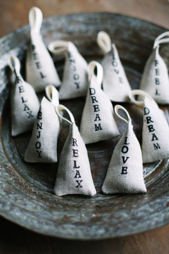 These tiny lavender bags are made form natural Lithuanian linen fabric and…