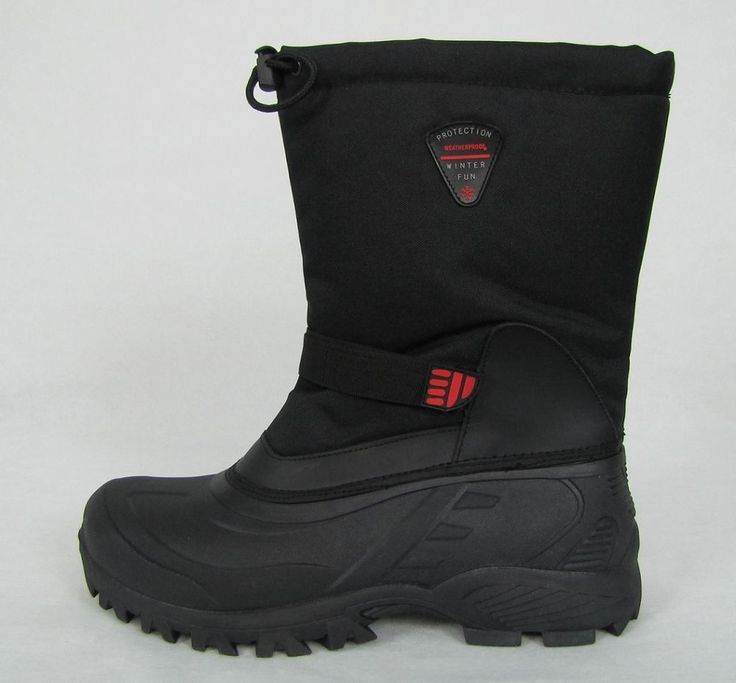 Therma by Weatherproof Boots Flood Men's Black Winter Boots Size 13 NEW #ThermabyWeatherproof #SnowWinter 49.99