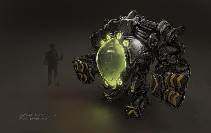 ArtStation - Hazmat Robot Suit, Rob Brown