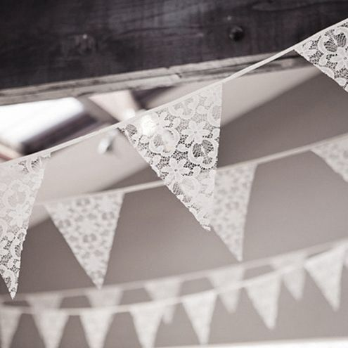 The most adorable bunting I've ever seen- made with lace