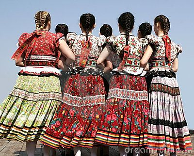 Girls in hungarian traditional clothing, Hungary by Jullyet, via Dreamstime