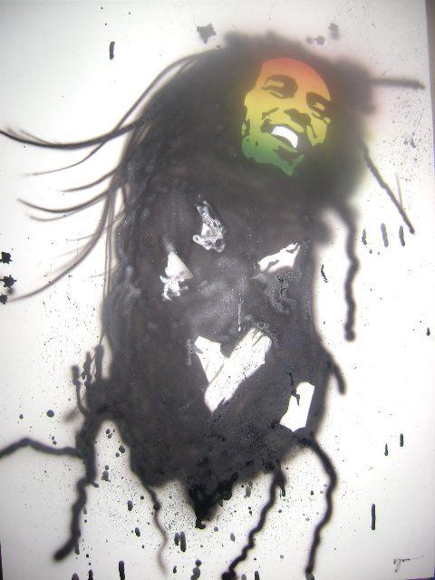 Aerografía de Bob Marley