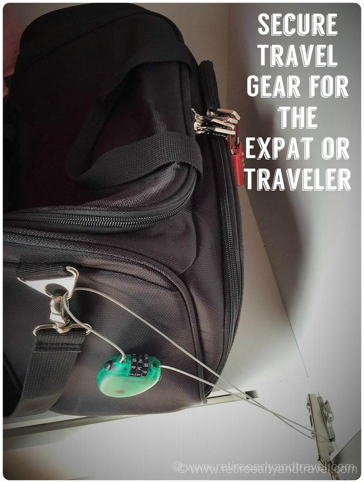 Secure Travel Gear for the Expat or Traveler -  These must have security conscious items to keep you from worrying and make your trip more fun.  We are a travel blog that focuses on how to retire early and the best travel sites to explore and retire in.
