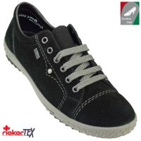 Rieker  vízálló női bőr cipő M6104-01 fekete