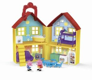 Toys For 4 yr Old Girls: Fisher-Price Peppa Pig: Peek 'n Surprise Playhouse Watched your daughter's imagination come alive! All the flipping parts of the furniture come out easily.