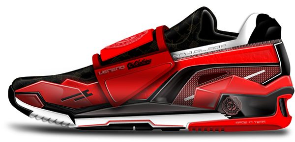 Lamborghini Veneno Shoe by Jeremiah Obuobi - Upon seeing Lamborghini's wild Veneno concept, experienced shoe designer Jeremiah Obuobi felt compelled to design a shoe that embodied the same design language. | Yanko Design