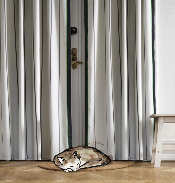Old-school air-conditioned insulation. Traditional, practical ANVÄNDBAR drape. Add a cozy touch to your home, Keep out drafts the old way. Reduce heat loss via doors and windows. And start to live a little kinder. #Livealittlekinder #IKEAcollections #ANVÄNDBAR #IKEA #greenhomes #drape