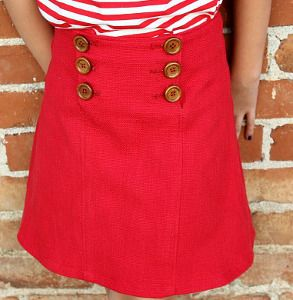 How to Make a Skirt Fit for a Sailor | AllFreeSewing.com
