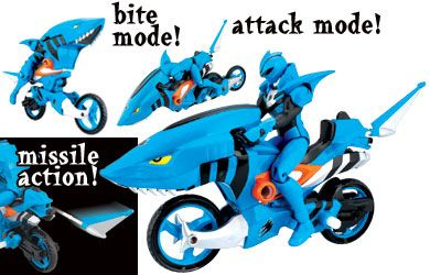 power rangers Jungle Fury - Strike Rider Animal Cycle Shark Power Rangers action figure with cycle features firing missile! Jungle Fury Strike Rider Animal Cycle is great for encouraging roleplay! http://www.comparestoreprices.co.uk/action-figures/power-rangers-jungle-fury--strike-rider-animal-cycle-shark.asp