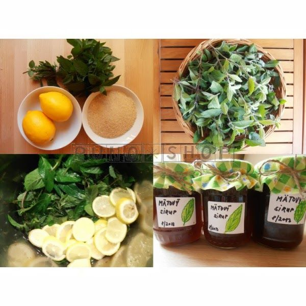 Mentha piperita L.  Herb peppermint syrup.  ✿ 100 g  peppermint ✿  2 lemons  ✿  2 teaspoonfuls of citric acid ✿  1 l water ✿  1 kg  sugar