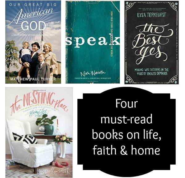Four must-read books on life, faith and home #reading #books: Reading Book