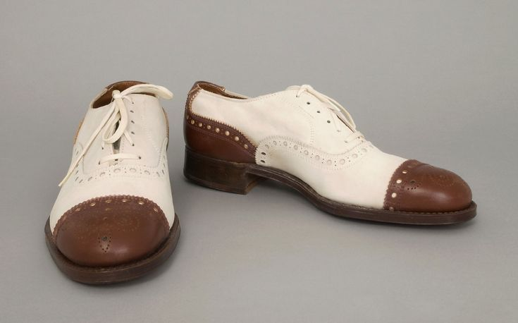 Man's 'Air-o-Magic' Spectator Shoes 1940s  Made by Daly Brothers Shoe Co. Inc., Marion, Indiana. Styled by Jack Young, Marion, Indiana.