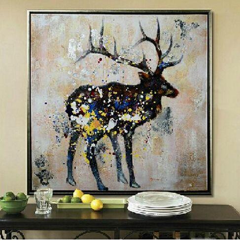 hirsch gemalt google suche weihnachten und winter. Black Bedroom Furniture Sets. Home Design Ideas