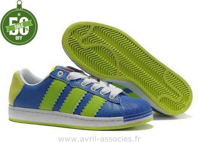 Boutique Adidas Femmes Ultra éToiles Collection Ufo Vert Bleu (Basket Adidas Pas Cher)