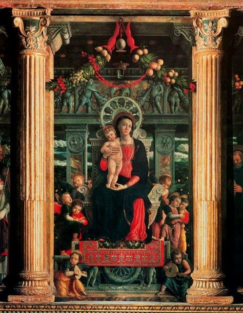 Andrea Mantegna - Madonna with Child Enthroned