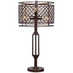 Metal Lattice Bronze Table Lamp