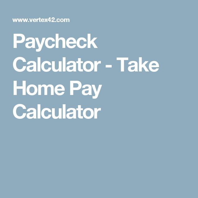 paycheck calculator excel