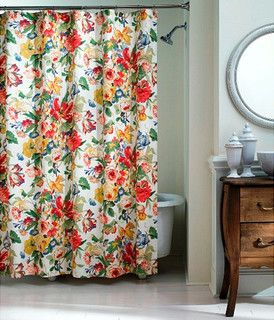 Westport Floral Shower Curtain - traditional - shower curtains - by Overstock.com