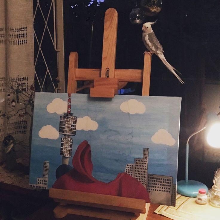 Night painting.