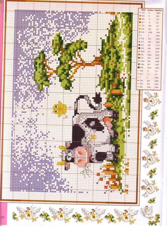 Cross stitch happy farm part 1 24 for Disenos de punto de cruz