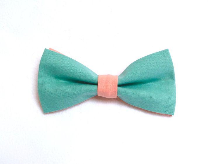 Noeuds papillon pour chien - 100% Coton - Couleurs : Bleu turquoise et rose. Mariage / Anniversaire / Fête / ... de la boutique LaCoussinerieFrance sur Etsy