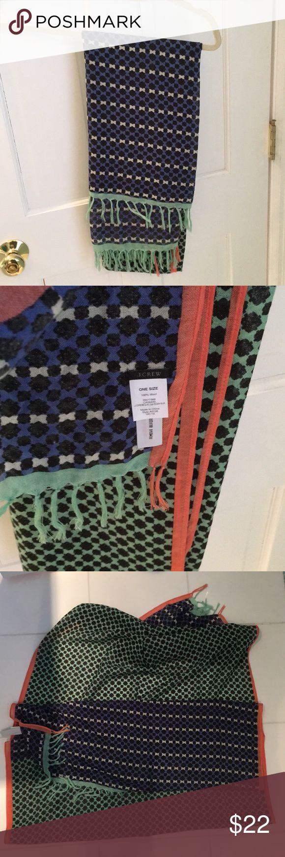 Jcrew multi color scarf/wrap Never worn J. Crew Accessories Scarves & Wraps