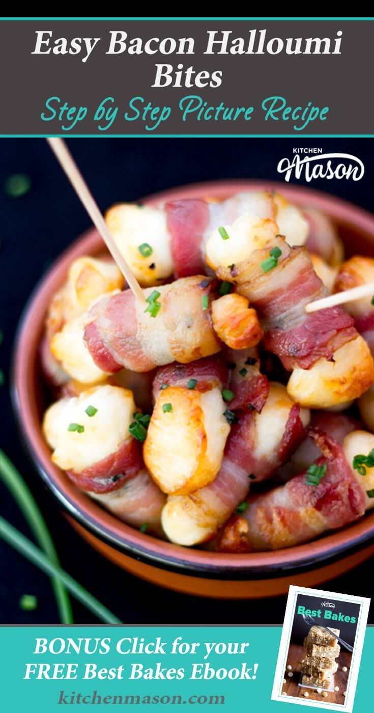 These gorgeous little Bacon Halloumi Bites are great for parties. They're SO simple to make but very quick to disappear! Ideal for Christmas & gatherings.