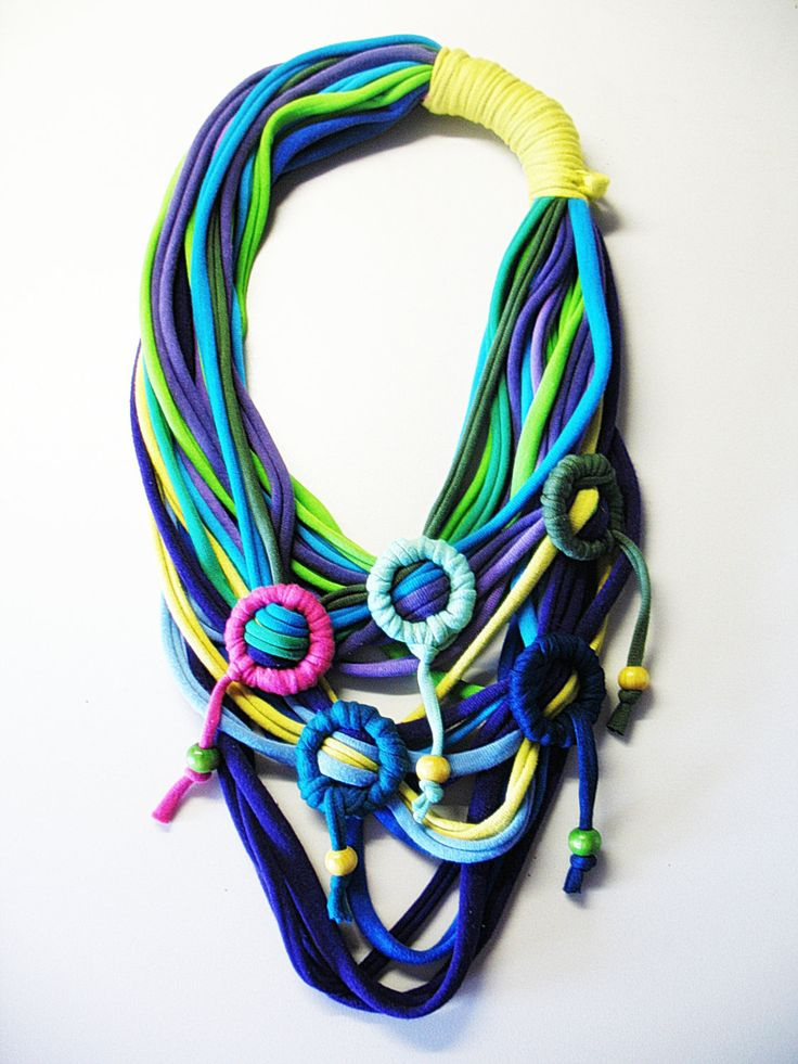eco friendly necklace by happyrecycled on Etsy