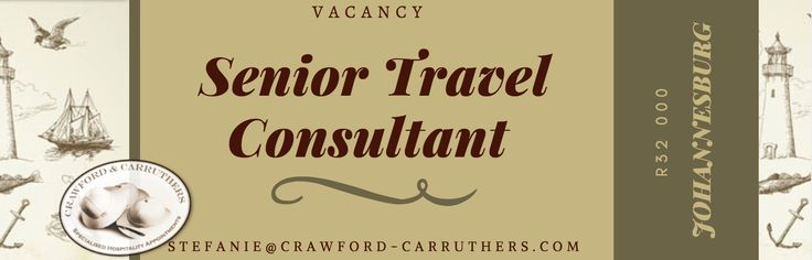 #crawfordcarruthers  #travelconsultantjobs #safarijobs