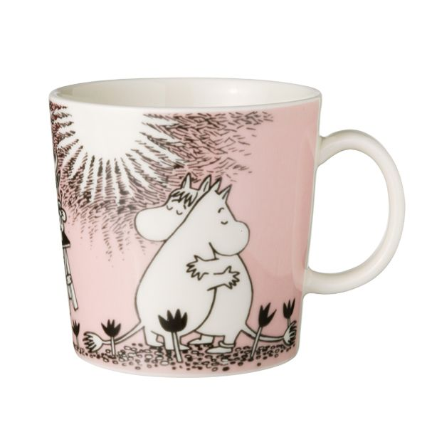 Moomin mug Love, pink for the cute valentine in your life .