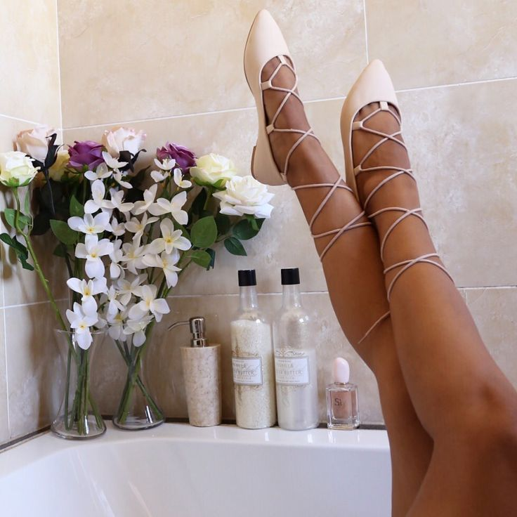 Shoes in the tub - wearing Lacey lace-ups from Rubi by Cotton On
