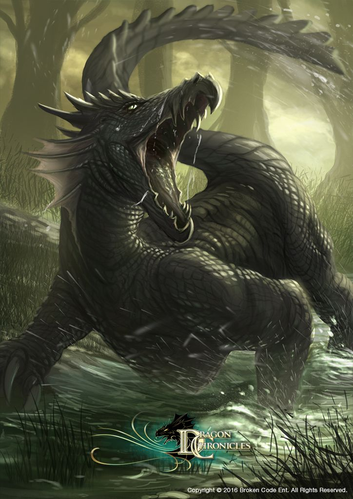 "drawntofantasy: ""Dragon Chronicles - Swamp Serpant by RobertCrescenzio """
