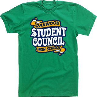 student council high school t shirts banners student