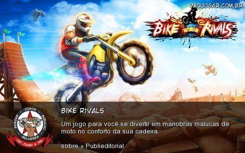 Bike Rivals: Um jogo para você se divertir em manobras malucas de moto no conforto da sua cadeira.