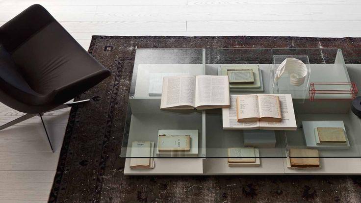 Brio konferenční stolek skleněný / coffee table with glass top