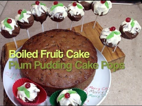 Boiled Fruit Cake and Plum Pudding Cake Pops Video Recipe cheekyricho http://yout.be/As4exbHBgFw An oldie but a goodie with a new serving suggestion