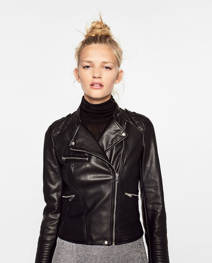 BIKER JACKET WITH ZIPS-View All-LEATHER-WOMAN | ZARA United States