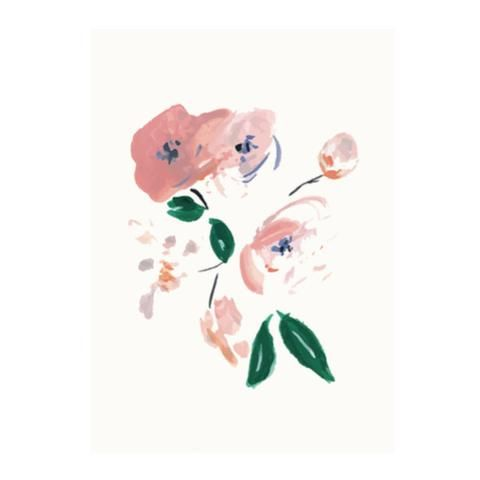 Flower garden greeting card by NUNUCO® #nunucodesign