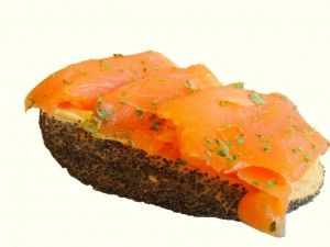 Lachsbrötchen - Muskelaufbau Ernährung