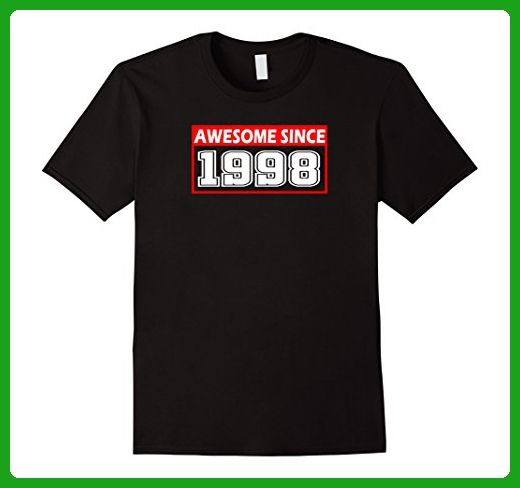 Mens Awesome Since Legends Born In 1998 Birthday  19 Years Old XL Black - Birthday shirts (*Amazon Partner-Link)