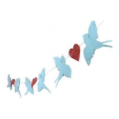Slinger Vogels Hart Blauw